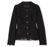 Jacke aus Guipure-spitze aus einer Baumwollmischung