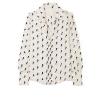 Bluse aus Bedrucktem Seiden-crêpe