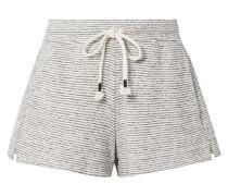 Teeghan Gestreifte Pyjama-shorts aus einer Pima-baumwoll-modalmischung