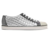 Sneakers aus Strukturiertem Leder
