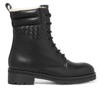 Ankle Boots aus Intrecciato-leder