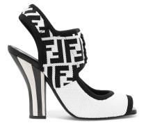 Sandalen aus Stretch-mesh mit Logomuster