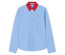 Zweifarbiges Hemd aus Baumwollpopeline