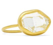 Ring aus 18 Karat  mit Einem Herkimer-diamanten