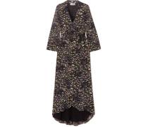 Wickelkleid aus Georgette mit Blumenprint