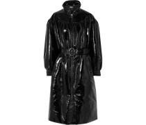 Mantel aus Vinyl mit Gürtel