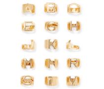 Alphabet farbener Ring
