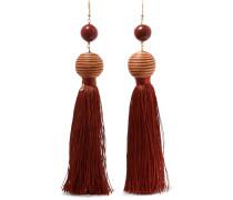 Ohrringe aus Holz mit Troddeln