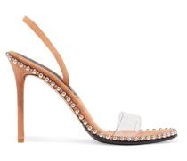 Nova Slingback-sandalen aus Leder und Pvc