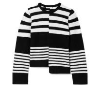 Elm Asymmetrischer Pullover aus Geripptem Kaschmir