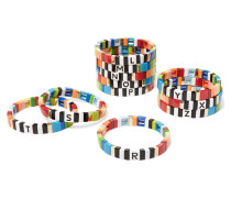 Alphabet Soup Armband mit Emaille