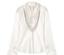 Bluse aus Seidensatin mit Kettendetails