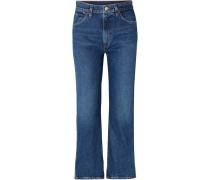 Cropped A Hoch Sitzende Jeans
