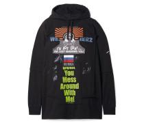 Oversized-hoodie aus Baumwoll-jersey