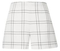Carlotta Karierte Shorts aus Crêpe aus einer Wollmischung