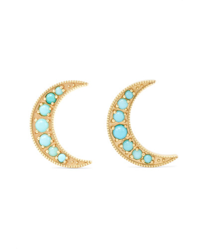Crescent Moon Ohrringe aus 18 Karat