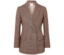 Doppelreihiger Blazer aus Woll-tweed