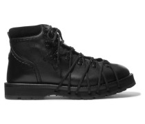 + 6 Noir Kei Ninomiya Ankle Boots aus Leder