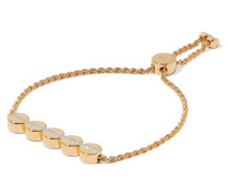 Linear Bead Armband aus -vermeil mit Diamanten