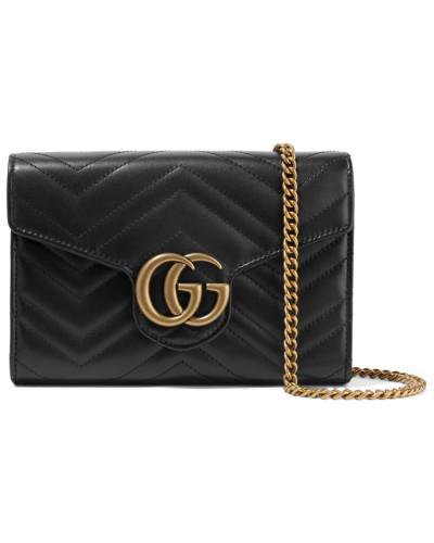 Gucci Damen Gg Marmont Mini Schultertasche aus Gestepptem Leder Kostenloser Versand eA1MXhJ8