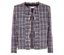 Frannie Distressed-jacke aus Tweed aus einer Baumwollmischung