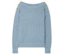 Pullover aus einer Baumwollmischung in Rippstrick