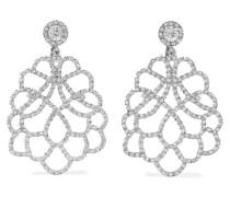 Rhodinierte Ohrclips mit Kristallen