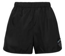 Shorts aus Shell mit Lederapplikationen