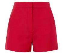 Shorts aus Crêpe aus einer Woll-seidenmischung
