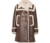 Mantel aus Strukturiertem Leder