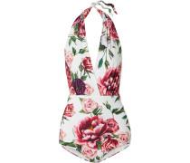 Neckholder-badeanzug mit Floralem Print