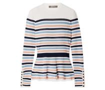 Gestreifter Pullover aus Stretch-rippstrick