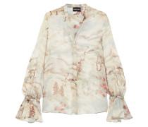 Bedruckte Bluse aus Seiden-georgette