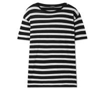 Boy Gestreiftes T-shirt aus einer Baumwoll-kaschmirmischung