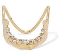 Mandible Ring aus 10 Karat  mit Diamanten