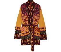 Cardigan aus Jacquard aus einer Wollmischung