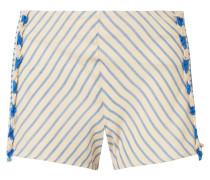 Shorts aus Gestreifter Baumwoll-gaze