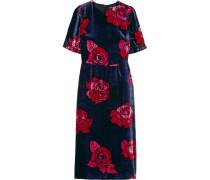 Freya Minikleid aus Samt mit Floralem Print