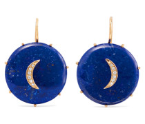 Crescent Moon Ohrringe aus 14 Karat