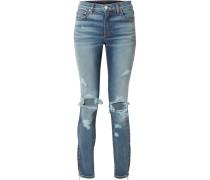 Thrasher Hoch Sitzende Skinny Jeans in Distressed-optik