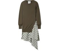 Mehrlagiges, Asymmetrisches Kleid aus Wolle und Baumwollpopeline