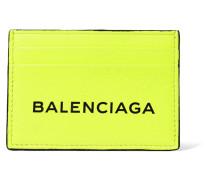 Bedrucktes Kartenetui aus Neonfarbenem Leder