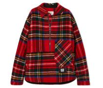 Asymmetrisches Hemd aus Shetlandwolle