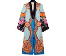 Bedruckter Mantel aus Satin