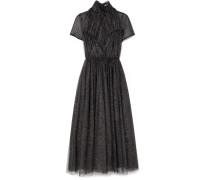 Gabriel Kleid aus Glitter-tüll mit Raffungen