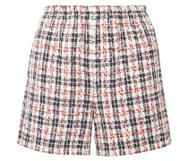 Shorts aus Tweed in Metallic-optik