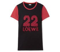 T-shirt aus Baumwoll-jersey mit Applikation