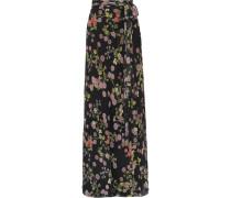 Floral Bedruckter Maxirock aus Seiden-georgette