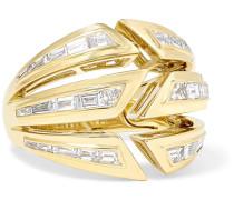 Bombé Ring aus 18 Karat  mit Diamanten