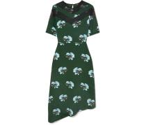 Asymmetrisches Kleid aus Crêpe De Chine